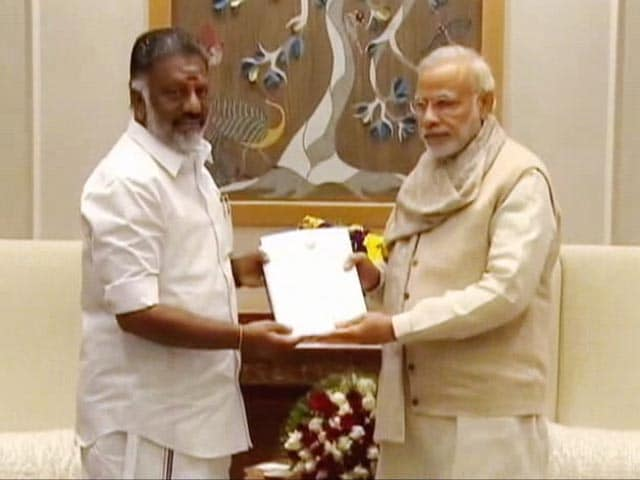 Video : Bharat Ratna For Amma, Says Panneerselvam. Silence On Sasikala Natarajan