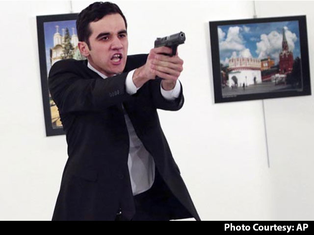 Video : Police Officer Guns Down Russian Ambassador In Turkey