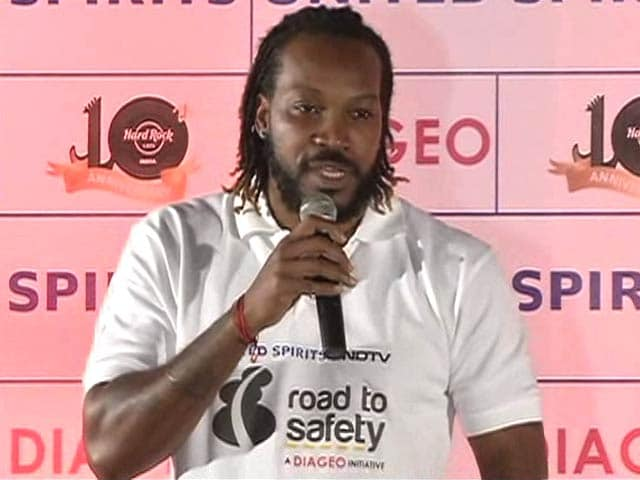 Video : Chris Gayle Voices His Support For Road To Safety