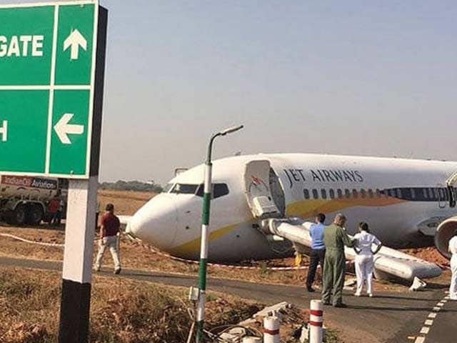 Video : Jet Airways Flight Veers Off Goa's Dabolim Airport Runway