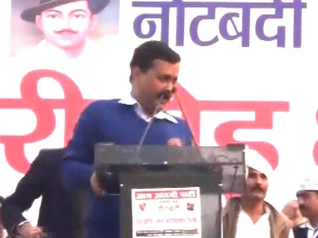 Video : Shoe Thrown At Arvind Kejriwal At A Rally In Haryana's Rohtak