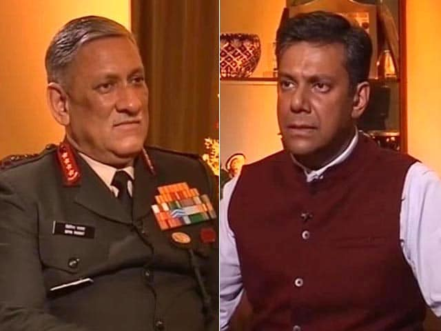 Video : More Surgical Strikes Against Pak Possible, Says Army Chief Rawat to NDTV