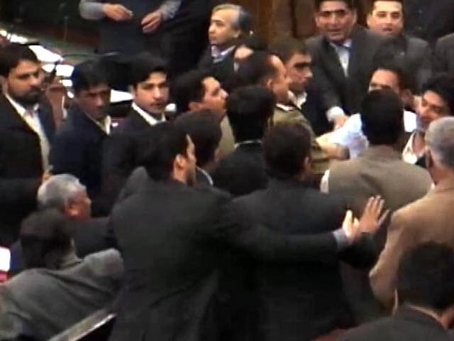 Video : Ruckus In Jammu And Kashmir Assembly Over Unrest, Burhan Wani Controversy