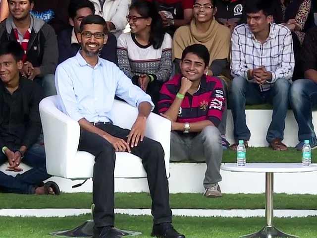 Video : What Google CEO Sundar Pichai Said To IIT Students