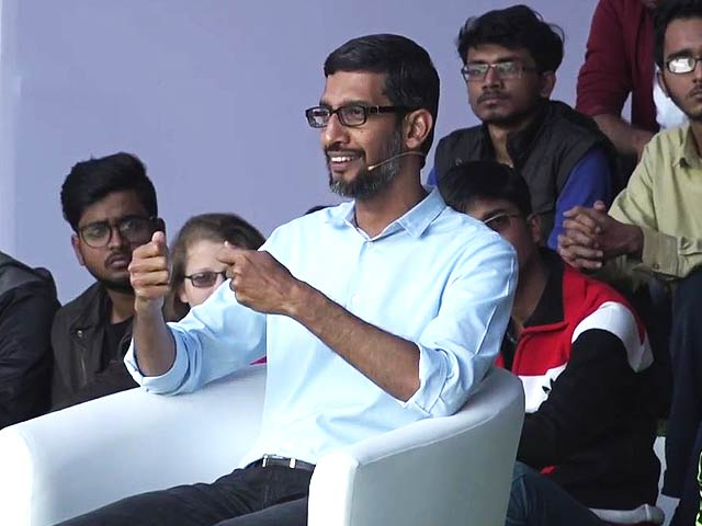 Video : IIT Food? Oops. Sundar Pichai Bravely Offers Diplomatic Response