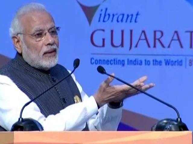 Video : India Now 6th Largest Manufacturing Country In World: PM Modi At Gujarat Summit