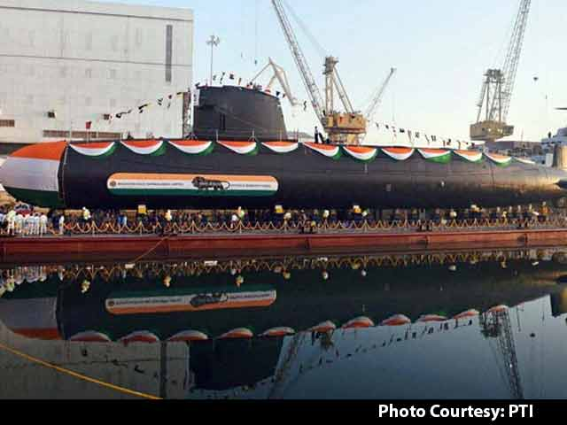 Video : Khanderi, India's Second Scorpene-Class Submarine, Launched