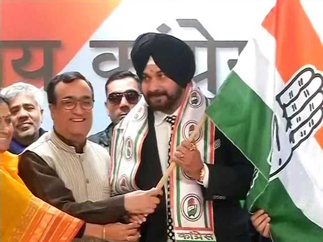Video : 'My Ghar Wapasi,' Says Navjot Sidhu As He Joins Congress