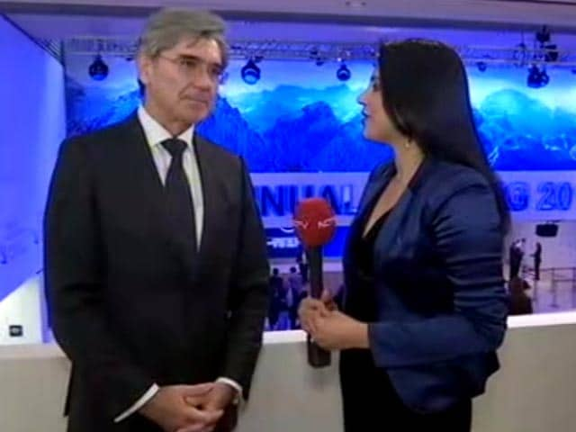 Video : 'Demonetisation Was A Spectacular Move': Siemens Chief To NDTV At Davos