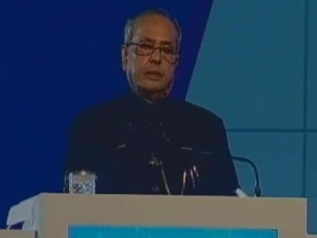Video : At Bengal Summit, President Had This Message For Arun Jaitley, Mamata Banerjee