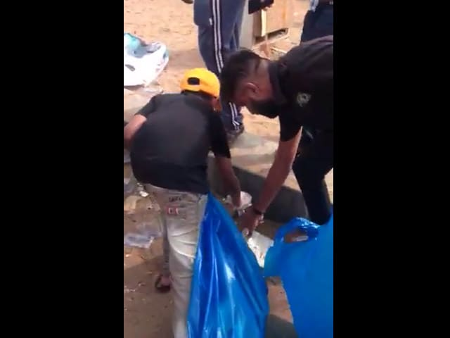 Video : Protestors Volunteered To Clean The Trash And Plastic Waste At Marina Beach
