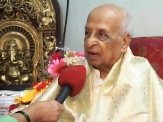 Video : 103-Year-Old Professor Behind Kannada Dictionary Chosen For Padma Shri