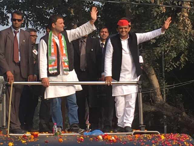 Video : Rahul Gandhi And I Like Two Wheels Of A Cycle, Says Akhilesh Yadav