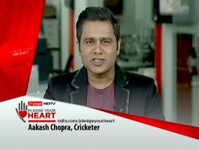 Video : Former Cricketer Aakash Chopra Lends His Support To Pledge Your Heart Campaign