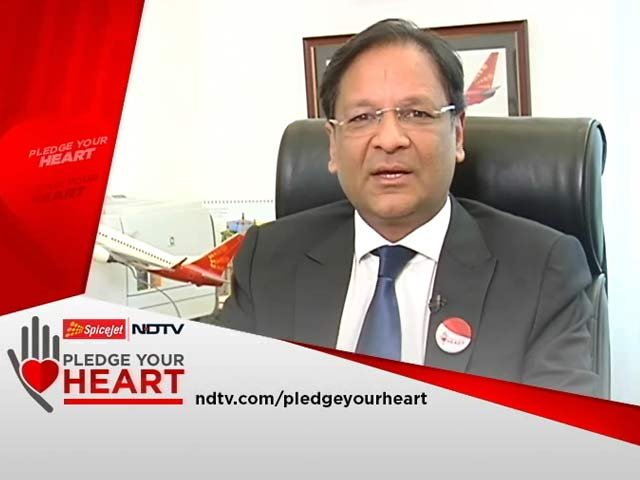 Video : SpiceJet CMD Ajay Singh Supports Pledge Your Heart Campaign