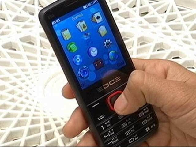 Feature Phone Close-Up With Edge 90