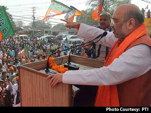 Video : As Amit Shah Campaigned In Allahabad, Akhilesh-Rahul Were A Street Away
