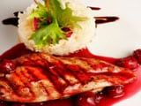 Fish in Red Wine Butter Sauce