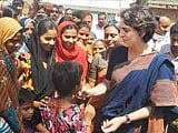 Video: Priyanka Gandhi Gives Her Security Cover a Slip