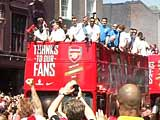 Fans Welcome Arsenal After FA Cup Triumph