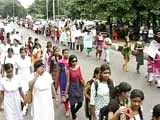 Video : Trinamool Rally Cuts No Ice With Protesting Jadavpur University Students