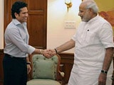 Sachin Tells Narendra Modi he is Keen to Work in Schools, Colleges