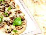 Flat Bread with Roasted Peppers and Mushrooms
