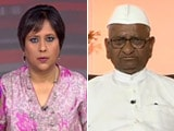 Video : 'Will Welcome Kejriwal on Stage': Anna to NDTV on Land Acquisition Protest