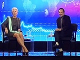 IMF Chief Answers Qs from Prannoy Roy, College Students