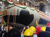 Video : Scorpene Submarine, Built at Mumbai Docks, Launched Into Water