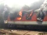 Video : Fire on 2 Rajdhani Express Trains at New Delhi Railway Station; No Casualties