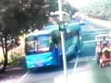 Video : Caught on Camera: Bus Brazenly Violated Rules Minutes Before Punjab Teen Was Pushed Off It