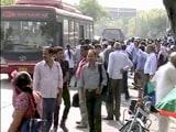 Video : तपती धूप में बसों का घंटों इंतजार करते लोग