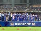 मुंबई इंडियंस ने वानखेड़े में मनाया आईपीएल की जीत का जश्न