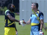 Chris Gayle vs Kevin Pietersen in a Bashful Battle for the Longest Six!