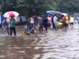 Video: Local Residents Help BMC Staff in Waterlogged Mumbai