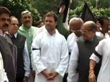 Video : सांसदों के निलंबन के विरोध में कांग्रेस का धरना, काली पट्टी बांधकर जताया विरोध