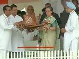 कांग्रेस की किसान सम्मान रैली में मोदी सरकार पर जमकर बरसे सोनिया और राहुल गांधी