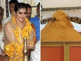 Video : Raveena Presents Biggest Laddoo to Andheri Cha Raja