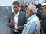 Video : PM Modi Visits Electric Car Maker Tesla Motors