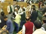Video : Jammu and Kashmir Lawmaker Thrashed By BJP Members Day After Beef Party