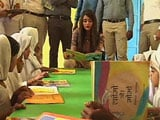 Video : Miss India Aditi Arya Visits School in Haryana