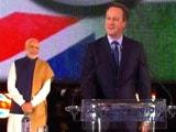 Video : 'Achche Din Zaroor Aayenge', Says David Cameron at Wembley