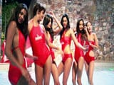 Video: Kingfisher Supermodels Take a Dip in the Pool