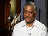 Video : Opposition Demands Action Against VK Singh Over 'Dog Remark'