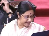 Video : Sushma's Statement On Pak Visit Drowned Out By Opposition Protests