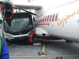 Video : Sleeping Jet Airways Bus Driver Rams Air India Plane in 'Rs. 400 Cr Crash'