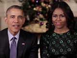 Video : Barack Obama, Michelle Send Festive Cheer To Americans