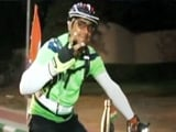 Video: This Man Cycles Across The Country To Spread The Swachh Message
