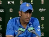 Video: Disappointed MS Dhoni Blames Himself for Canberra Heartbreak